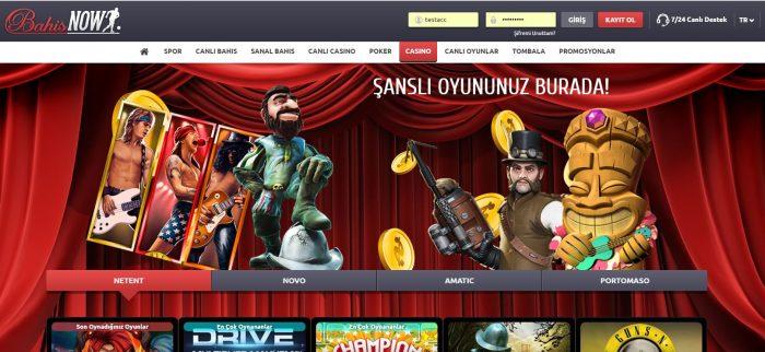 bahisnow hakkında tasarim bahisnow casino sayfasi